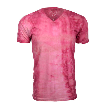 Ultra Soft Hand Dyed V-Neck // Pink (S)