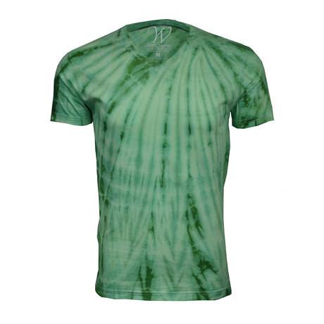 Ultra Soft Hand Dyed V-Neck // Lime Green (S)
