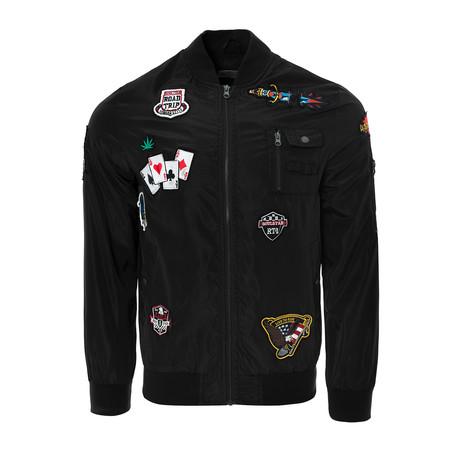 Badged Bomber Jacket // Black (S)