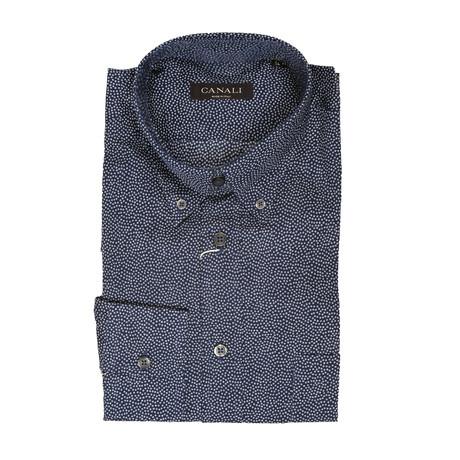 Geometric Regular Shirt // Blue (Euro: 41)