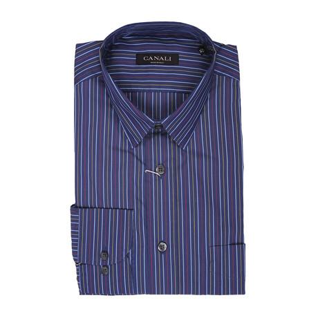 Striped Dress Shirt // Multi (Euro: 41)