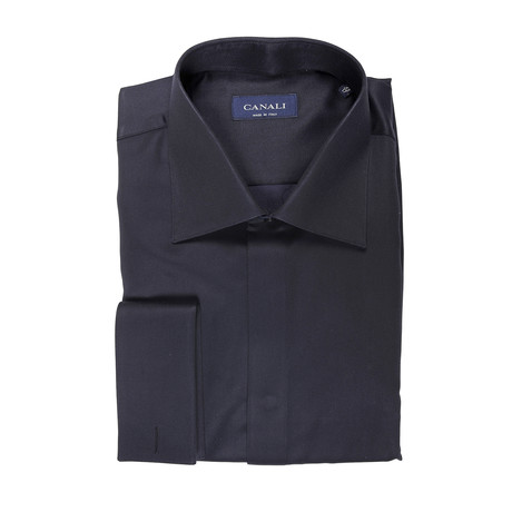 Formal Dress Shirt // Solid Black (Euro: 40)