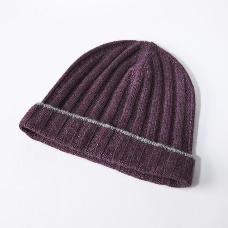 Cashmere Ski Cap // Purple