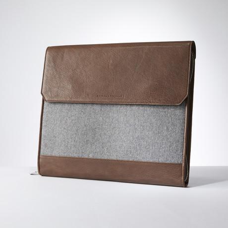 Portfolio Holder // Gray + Brown