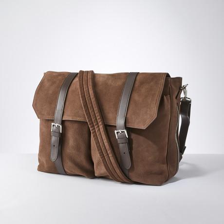 Messenger Duffle Bag // Chocolate Brown