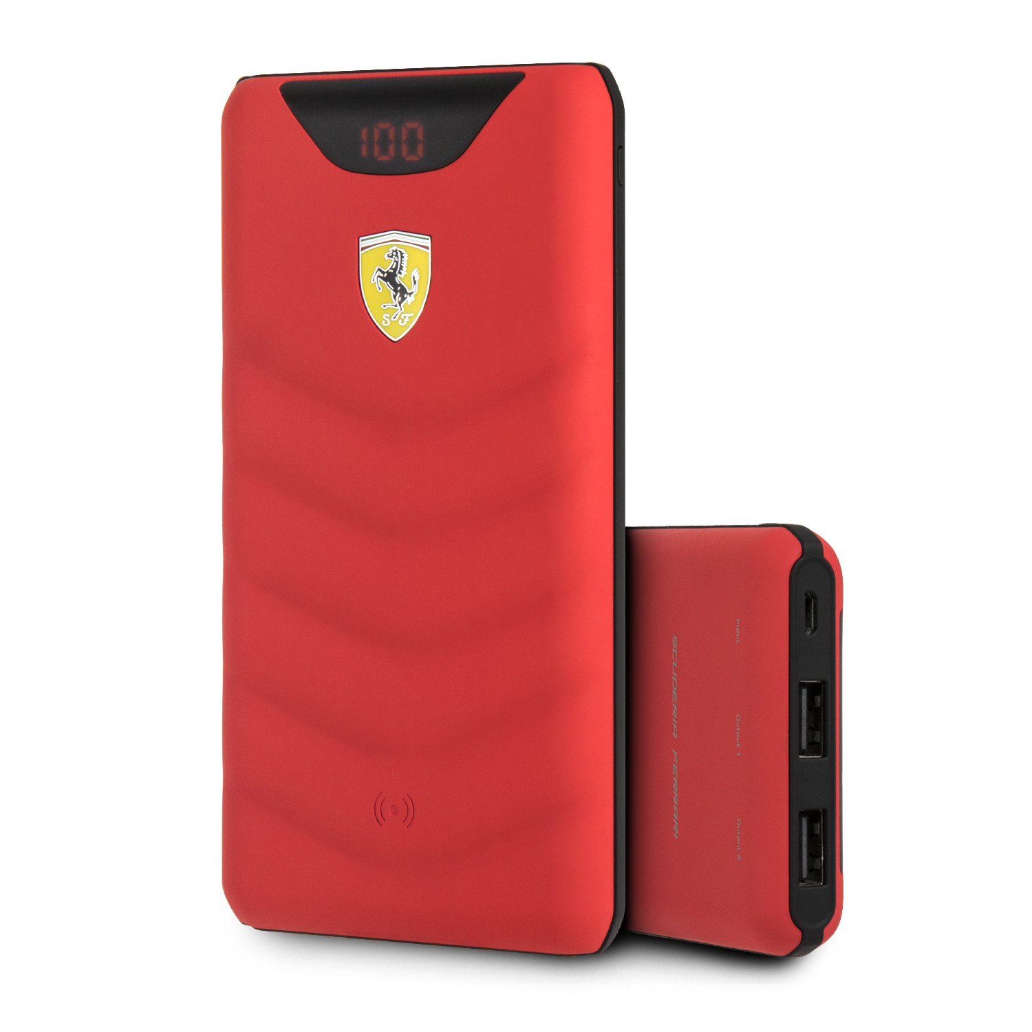 On Track Wireless Portable Charger 10 000mah Black Ferrari By Cg Mobile Touch Of Modern