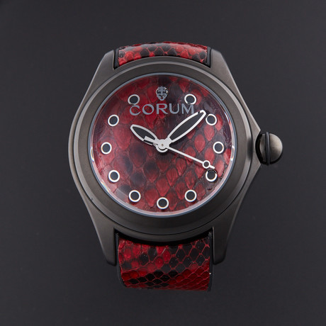 Corum Bubble Red Python Automatic // L082/02981