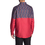 Freddy True Modern-Fit Long-Sleeve Dress Shirt // Multicolor (S)