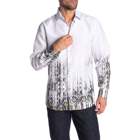 Rolland True Modern-Fit Long-Sleeve Dress Shirt // Multicolor (L)