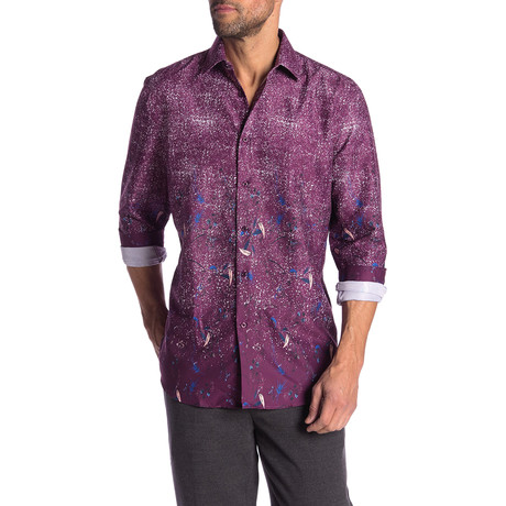 Conrad True Modern-Fit Long-Sleeve Dress Shirt // Multicolor (S)