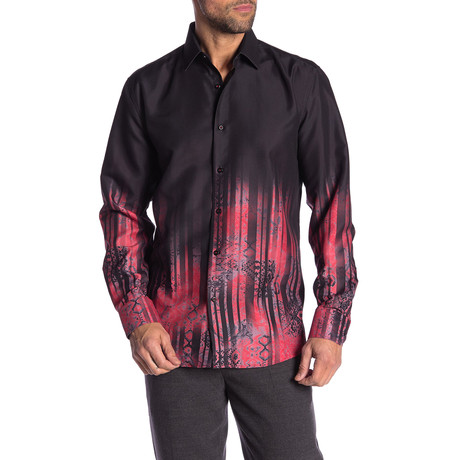 Milan True Modern-Fit Long-Sleeve Dress Shirt // Multi (S)
