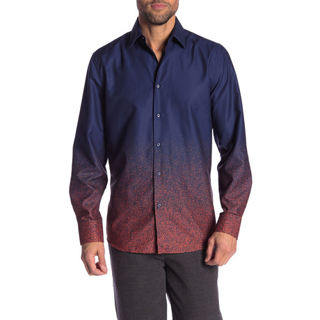 Rene True Modern-Fit Long-Sleeve Dress Shirt // Multicolor (S)