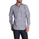 Desmond True Modern-Fit Long-Sleeve Dress Shirt // Multicolor (S)