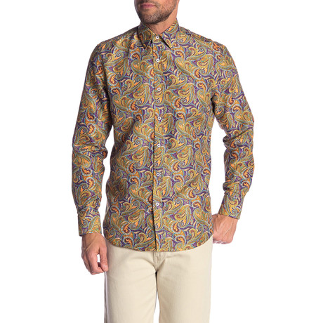 Cortez True Modern-Fit Long-Sleeve Dress Shirt // Multicolor (S)
