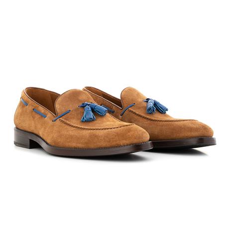 Loafer Suede // Cognac + Blue (Euro: 39)