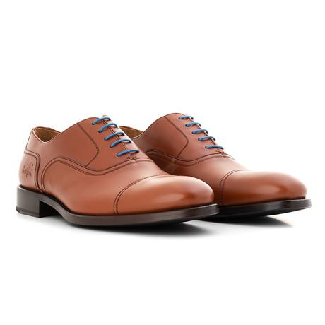 Oxford Calf Leather // Cognac + Blue (Euro: 39)