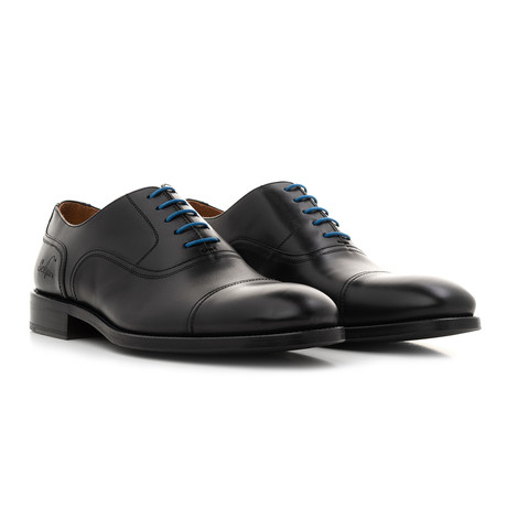 Oxford YF Calf Leather // Black + Blue (Euro: 39)