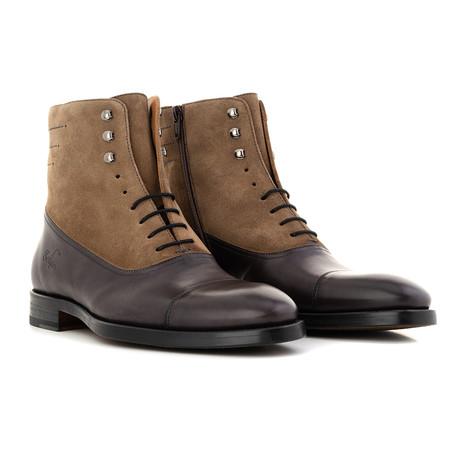 Ankle Boot // Burgundy + Tan (Euro: 39)