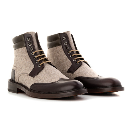 Ankle Boot // Filz Brown + Beige (Euro: 39)