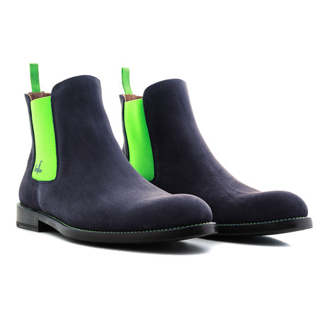 Chelsea Boot Suede // Prusia + Green (Euro: 39)