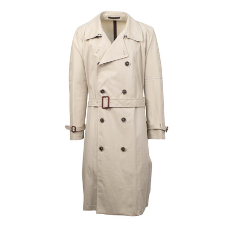 Caruso // Cotton Double Breasted Trench Coat // Beige (Euro: 48)