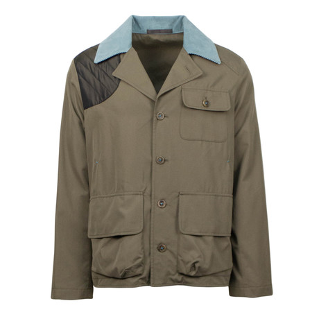 Caruso // Cotton Blend Jacket // Olive Green (Euro: 48)