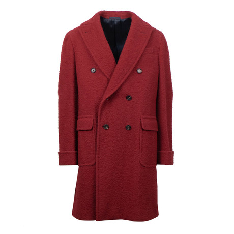 Caruso // Wool Double Breasted Overcoat // Red (Euro: 48)