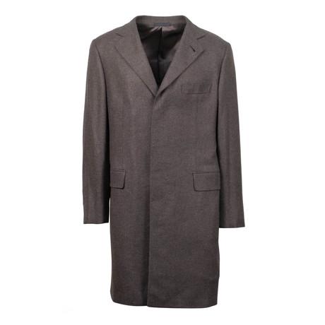 Caruso // Cashmere Over Coat // Brown (Euro: 48)