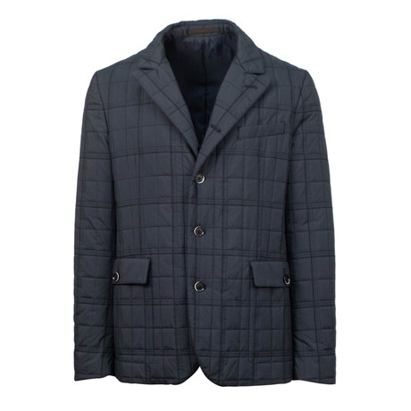 Caruso // Quilted Jacket // Navy Blue (Euro: 48)