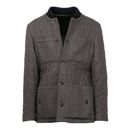 Caruso // Tweed Quilted Jacket // Brown (Euro: 48)