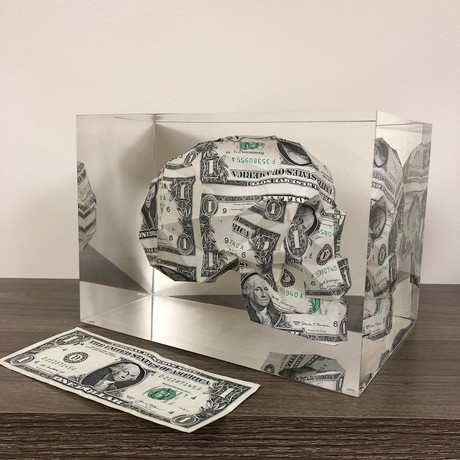 Encapsulated $1 Dollar Bill // Skull