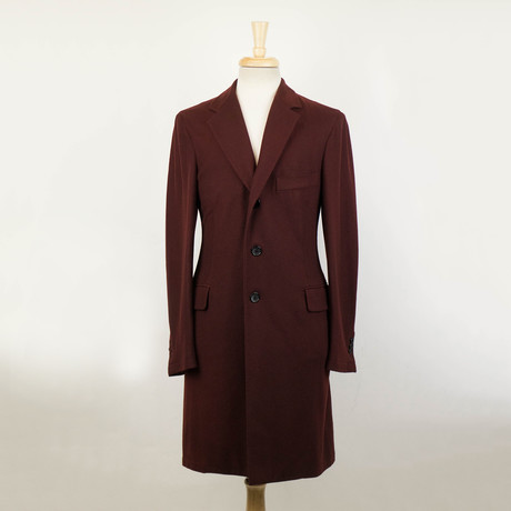 Belvest // Twill Cashmere Coat // Red (Euro: 48)