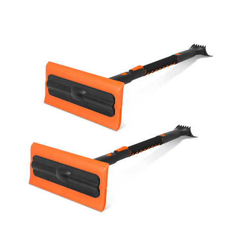 "Snow MOOver 39"" Extendable Snow Brush + Ice Scraper // Set of 2"