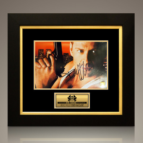Die Hard // Bruce Willis Signed Photo // Custom Frame