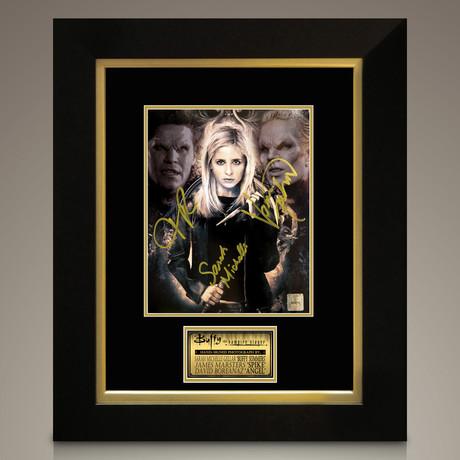 Buffy The Vampire Slayer // Gellar + Marsters + Boreanaz Signed Photo // Custom Frame