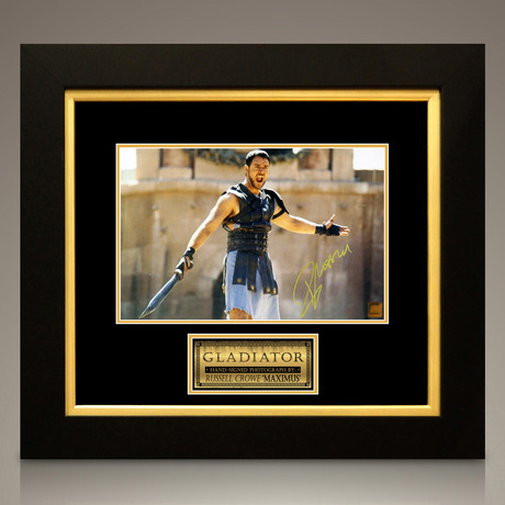 Gladiator // Russell Crowe Signed Photo // Custom Frame