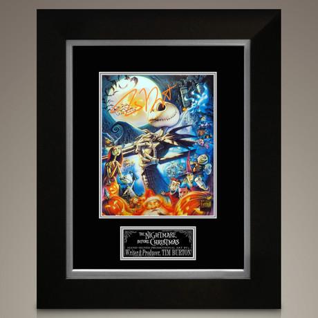 Nightmare Before Christmas // Tim Burton Signed Photo // Custom Frame