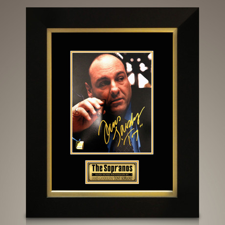 Sopranos // James Gandolfini Signed Photo // Custom Frame