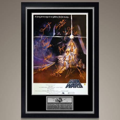Star Wars A New Hope // Cast Signed Poster // Custom Frame