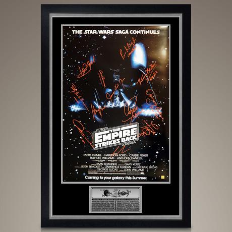 Star Wars Empire Strikes Back // Cast Signed Poster // Custom Frame