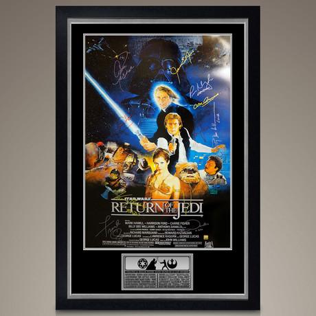 Star Wars Return Of The Jedi // Cast Signed Poster // Custom Frame