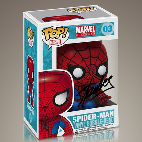 Spider-Man Funko Pop // Stan Lee Signed
