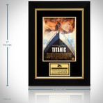 Titanic // Leonardo Dicaprio + Kate Winslet + James Cameron + Celine Dion Signed Photo // Custom Frame