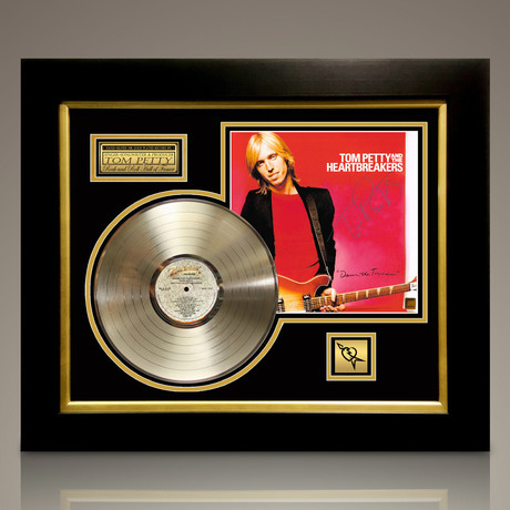 Tom Petty + The Heartbreakers // Signed 24K Gold Plated Record // Custom Frame