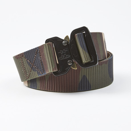 Flank Tactical Quick Release Belt // Green Camo