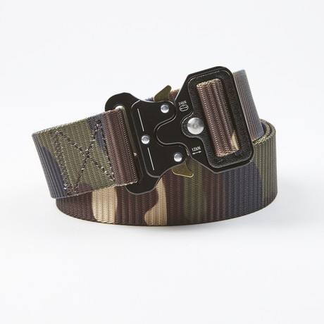 Bunker Tactical Quick Release Belt // Green Camo