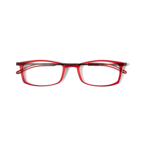 FrontPage // Brooklyn Red Glasses + Milano Black Case (1.0 D)