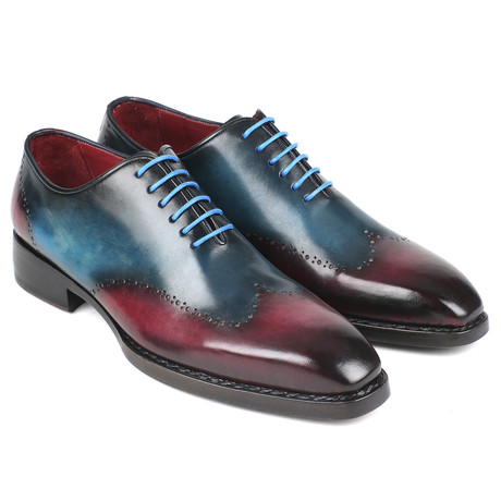 Goodyear Welted Wingtip Oxfords // Blue + Purple (Euro: 38)