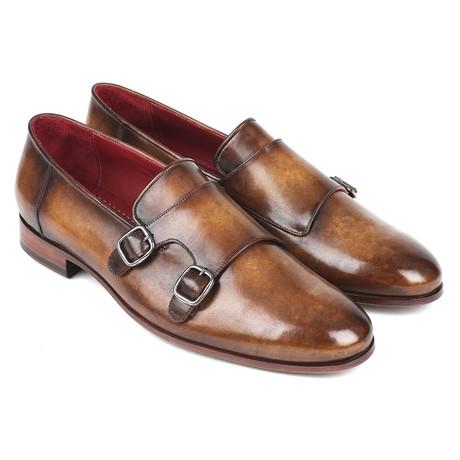 Leather Double Monkstraps // Brown (Euro: 43)