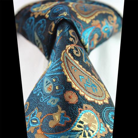 Silk Neck Tie + Gift Box // Multi Color Paisley